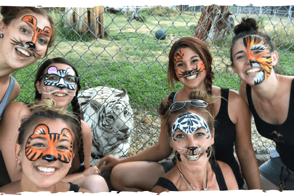 Keeper and Interns get festive for Tiger Day