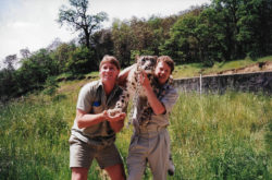Steve Irwin and Graig Warner